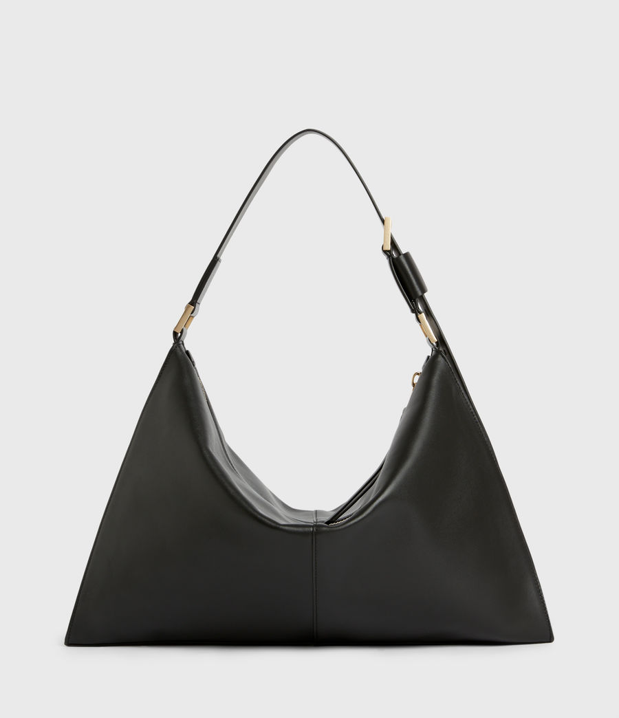 Womens Edbury Leather Shoulder Bag (black) - Image 7