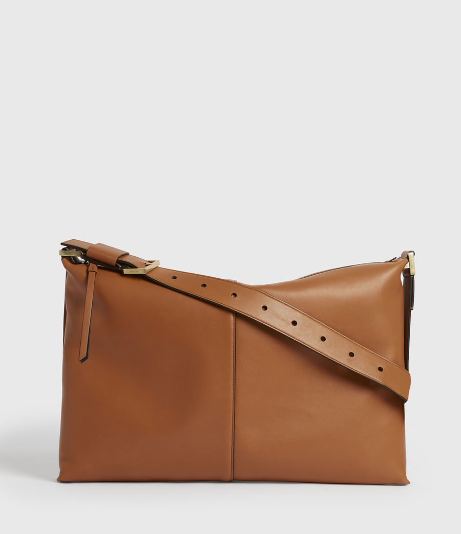 Women's Edbury Leather Shoulder Bag (rust_orange) - Image 2