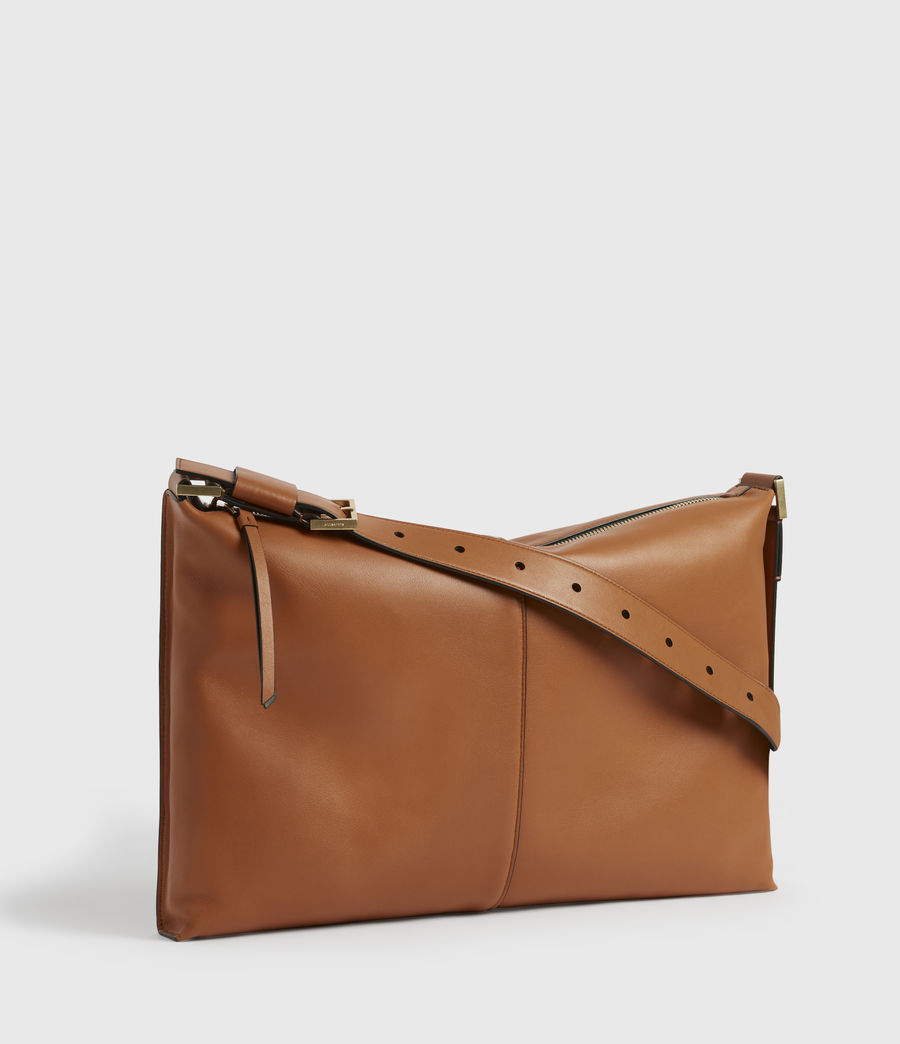 Women's Edbury Leather Shoulder Bag (rust_orange) - Image 5