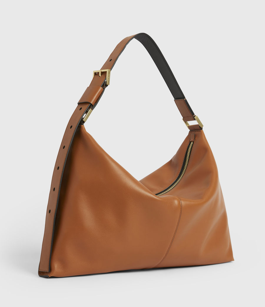 Women's Edbury Leather Shoulder Bag (rust_orange) - Image 7