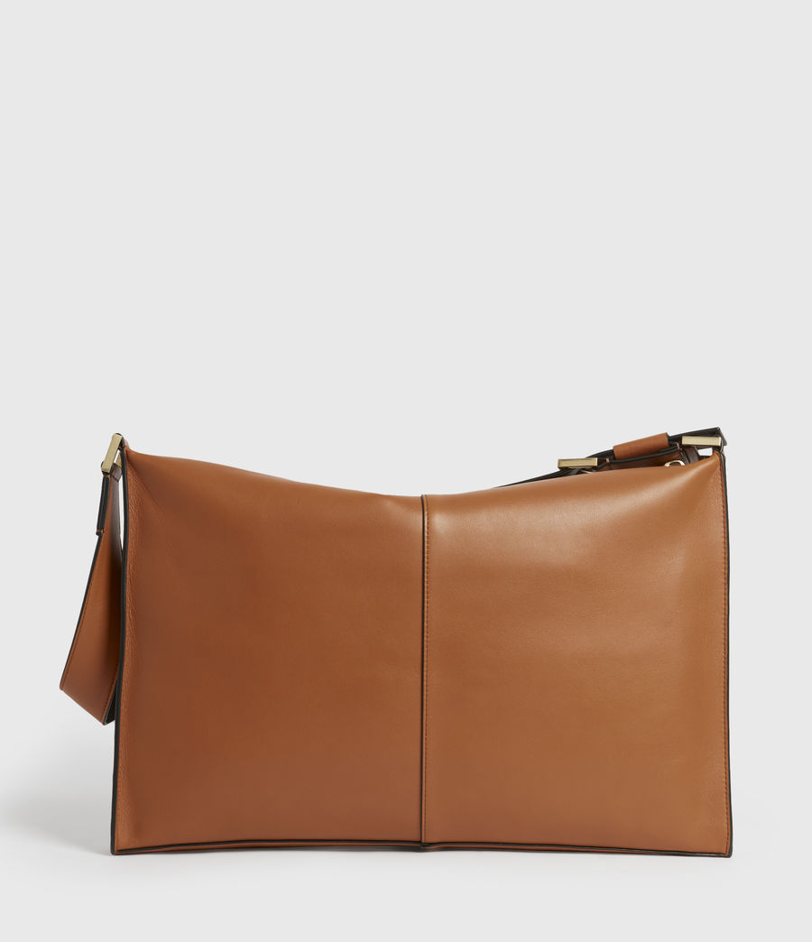 Women's Edbury Leather Shoulder Bag (rust_orange) - Image 8