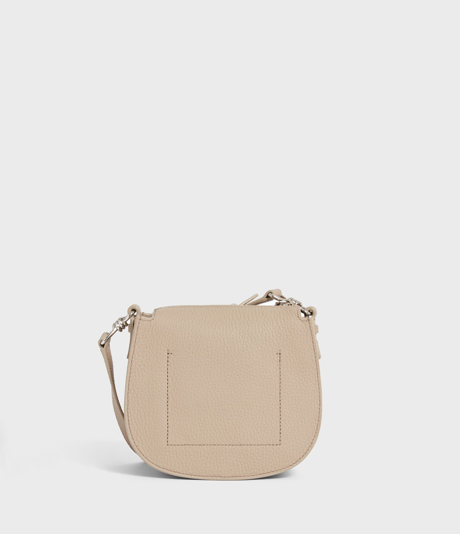 Womens Captain Lea Leather Small Round Crossbody Bag (dune) - Image 5