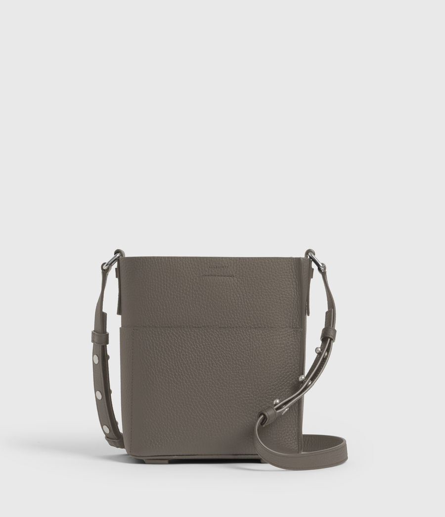 Women's Adelina Small North South Leather Tote Bag (storm_grey) - Image 1