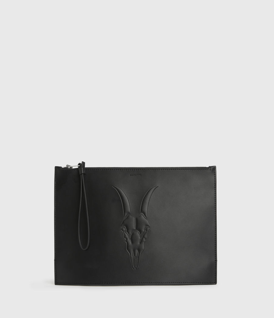 Women's Stockwell Leather Clutch Bag (black) - Image 1