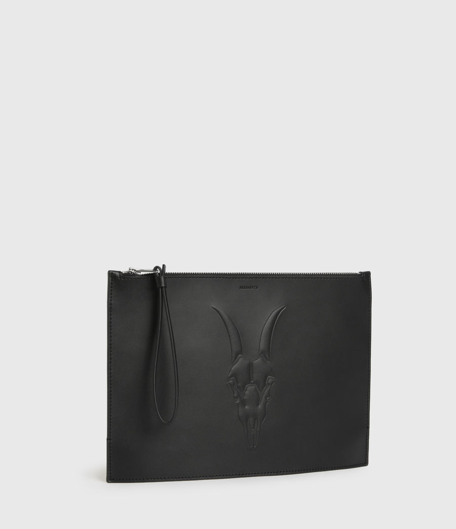 Women's Stockwell Leather Clutch Bag (black) - Image 3
