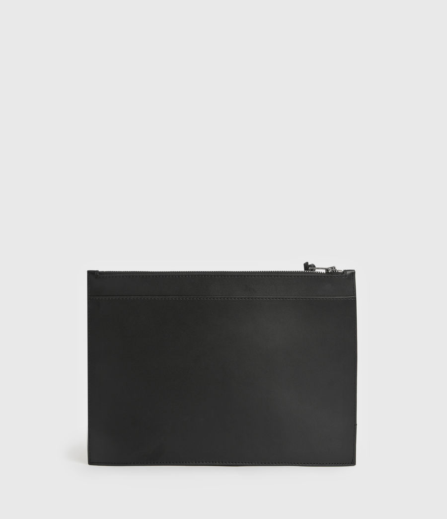 Women's Stockwell Leather Clutch Bag (black) - Image 6