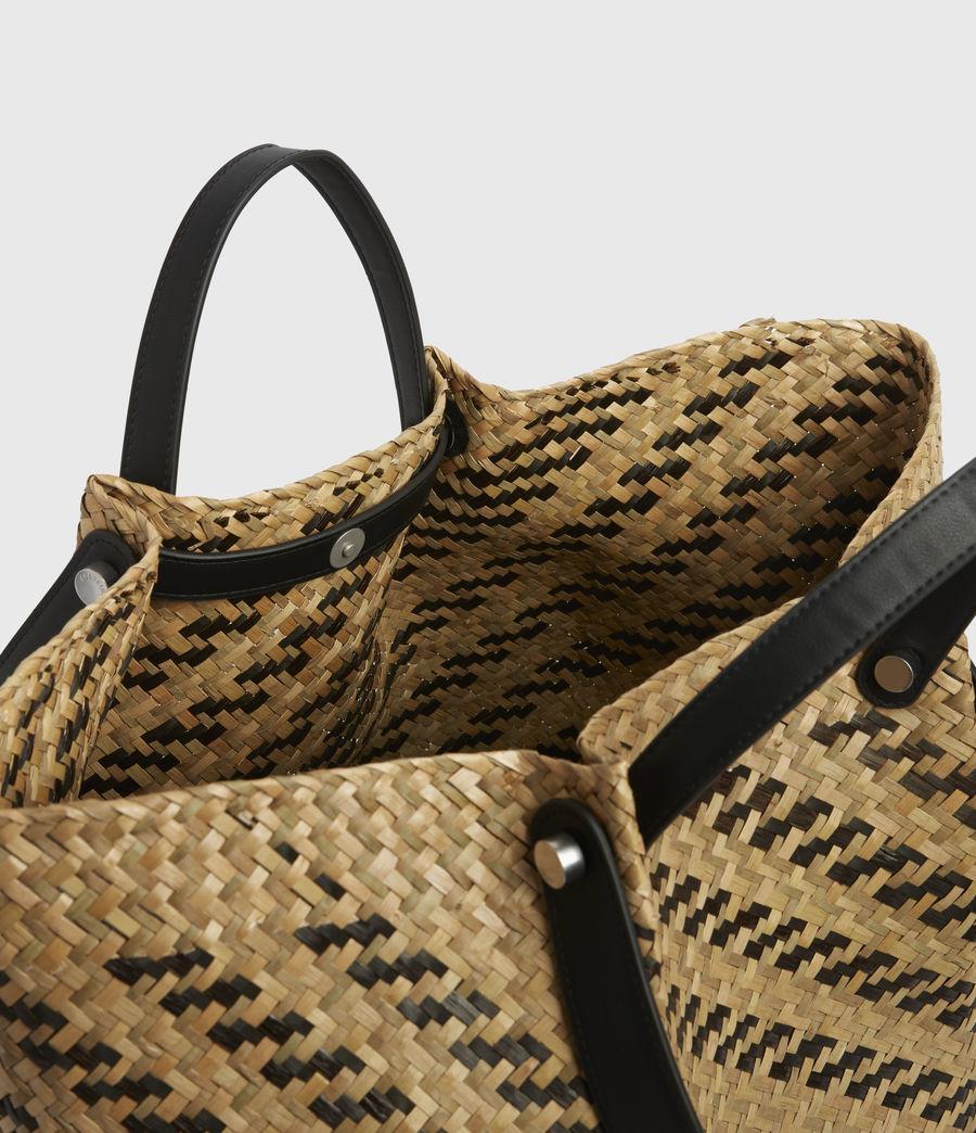 Womens Allington East West Straw Tote Bag (natural_black) - Image 2