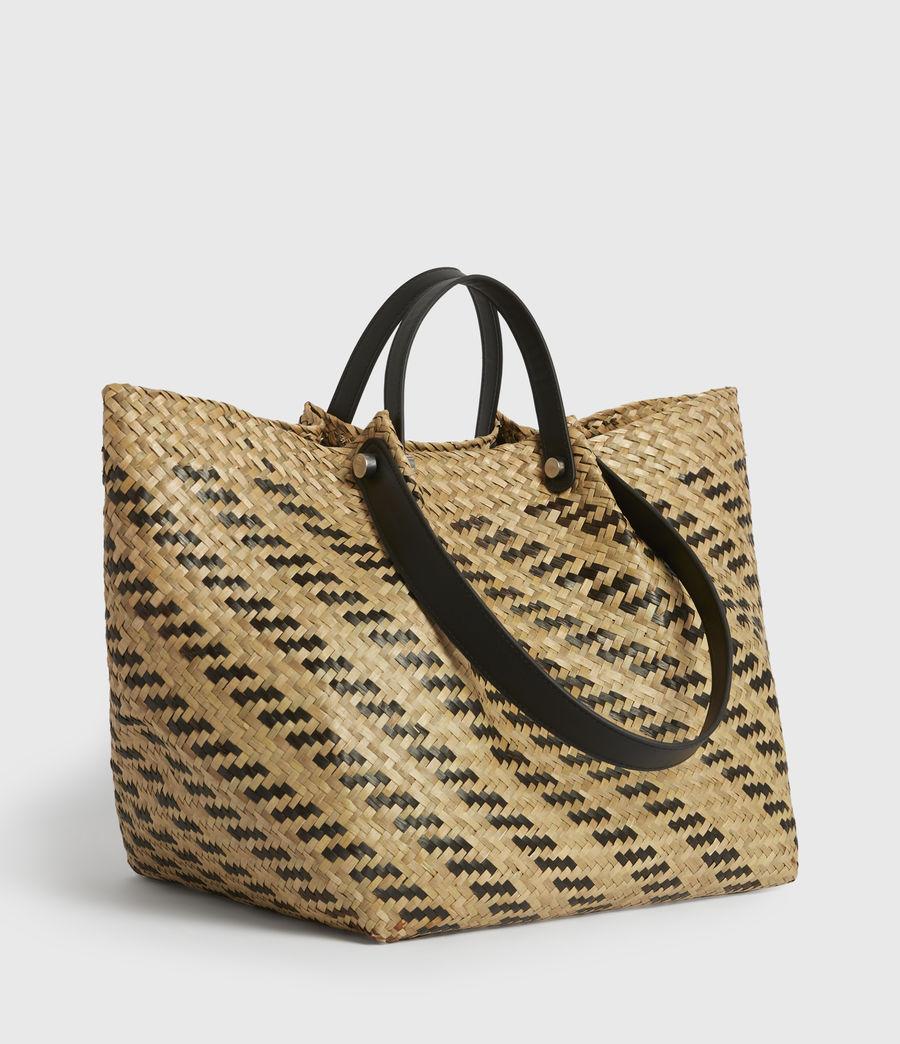 Womens Allington East West Straw Tote Bag (natural_black) - Image 3