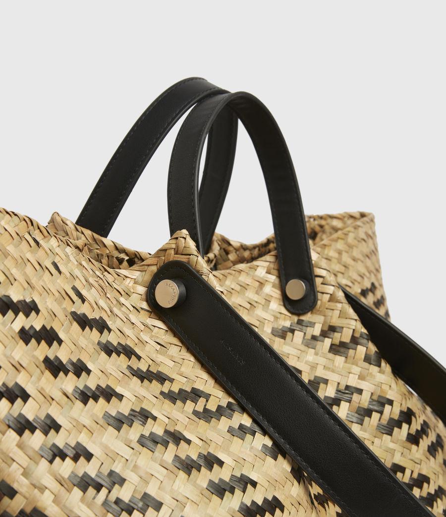 Womens Allington East West Straw Tote Bag (natural_black) - Image 4