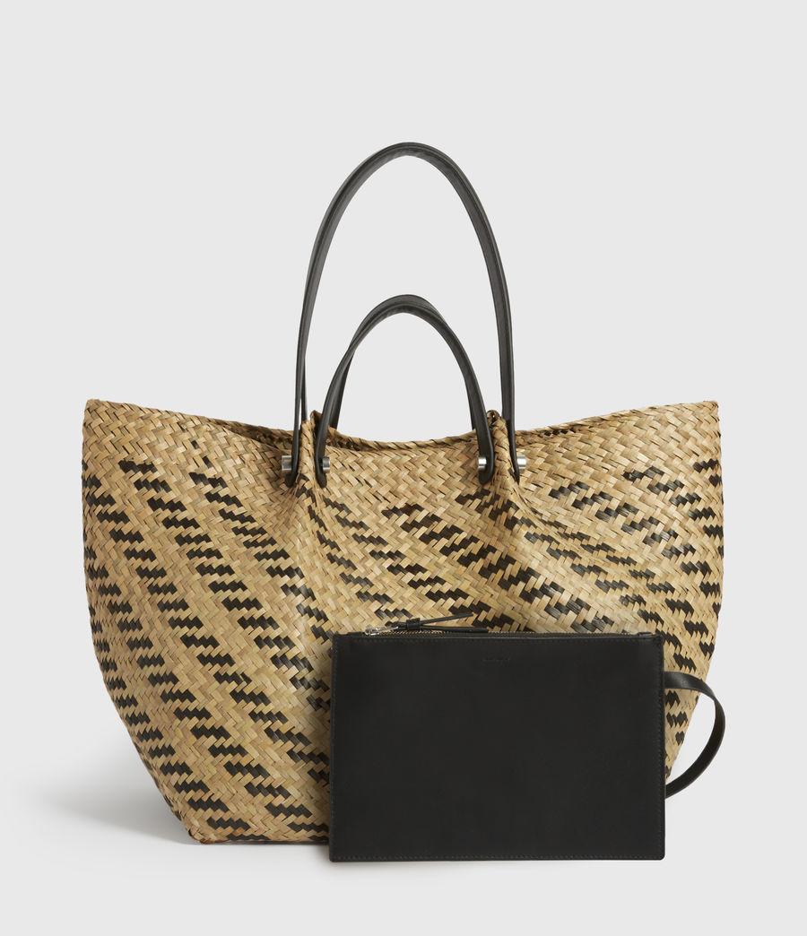 Womens Allington East West Straw Tote Bag (natural_black) - Image 5