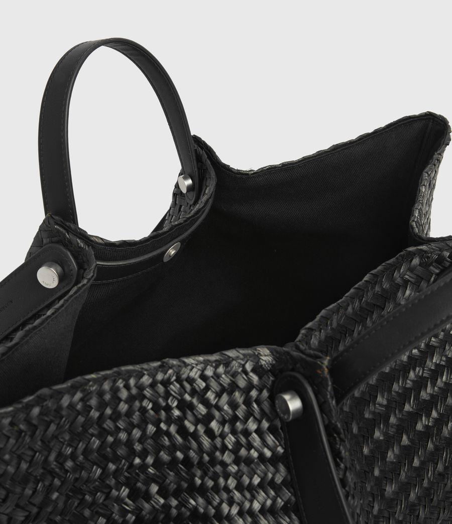 Women's Allington East West Straw Tote Bag (black) - Image 1