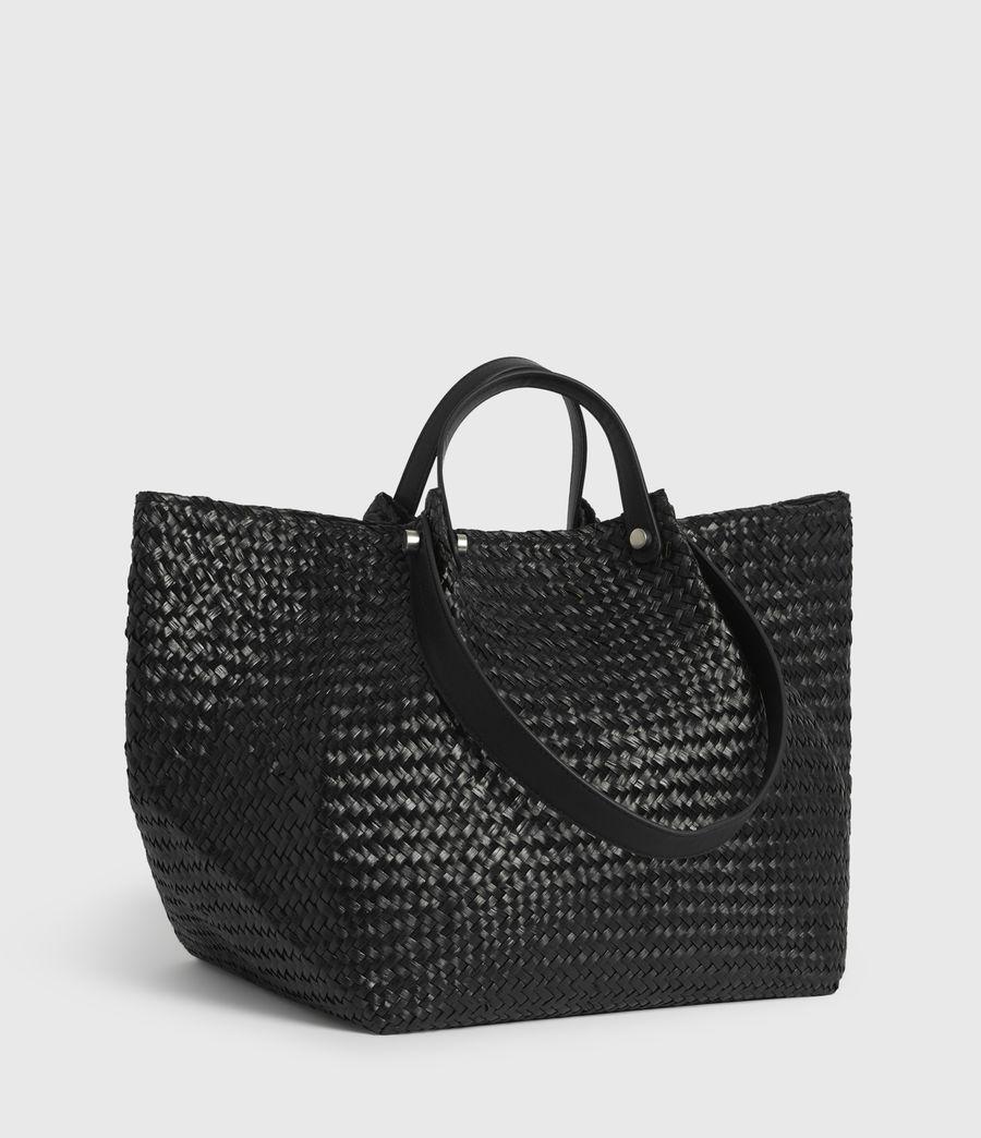 Women's Allington East West Straw Tote Bag (black) - Image 2