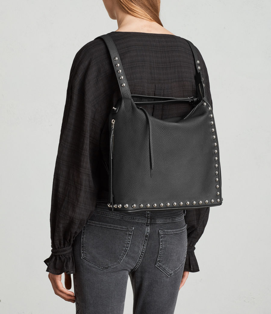 Womens Cami Leather Backpack (black) - Image 2