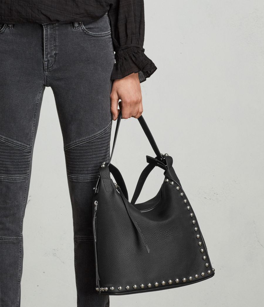 Womens Cami Leather Backpack (black) - Image 3