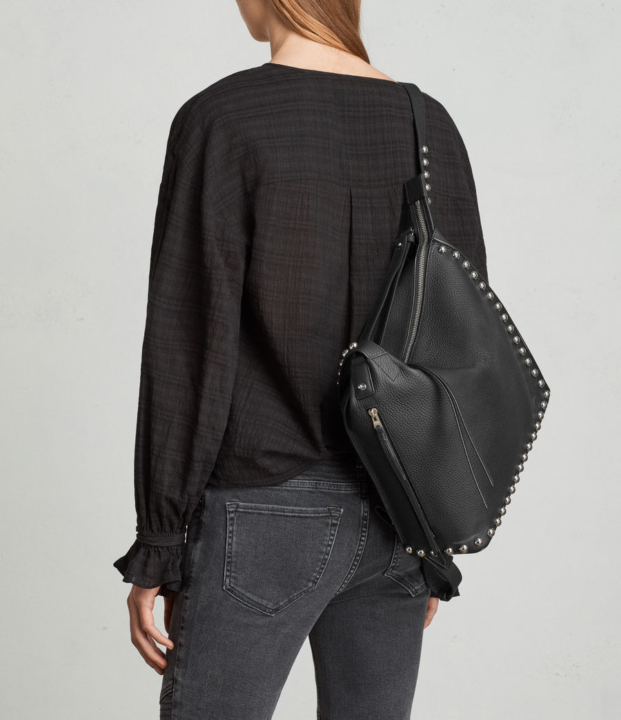Womens Cami Leather Backpack (black) - Image 4