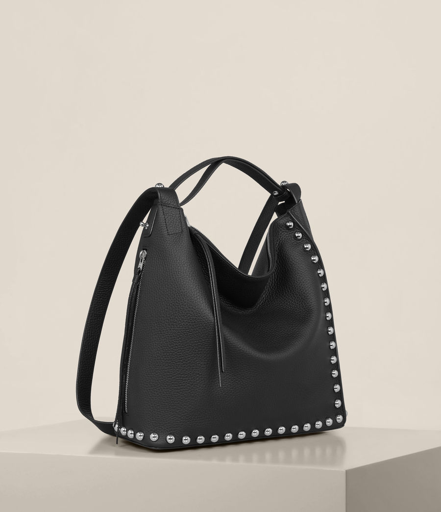Womens Cami Leather Backpack (black) - Image 6