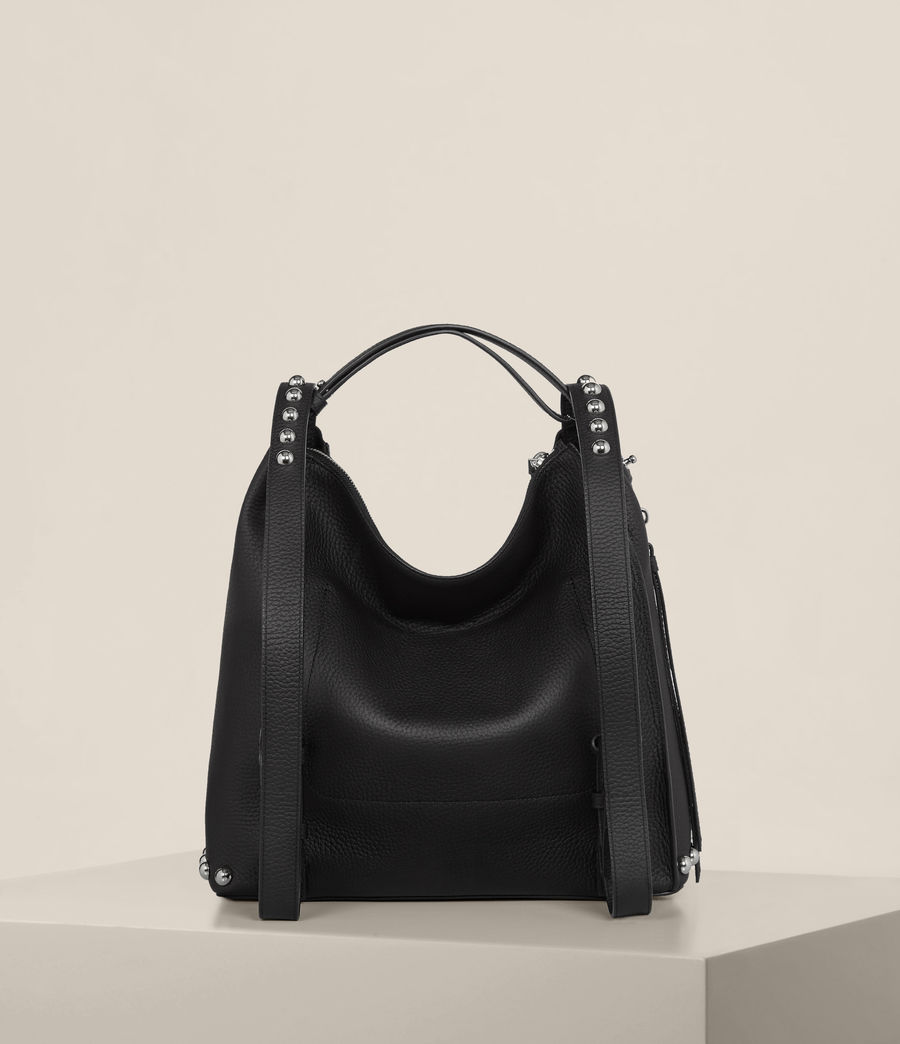 Womens Cami Leather Backpack (black) - Image 9