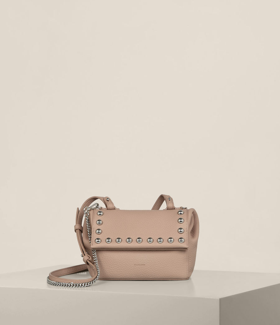 Womens Cami Leather Mini Crossbody (blush_pink) - Image 1