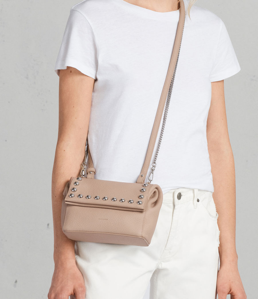 Womens Cami Leather Mini Crossbody (blush_pink) - Image 3