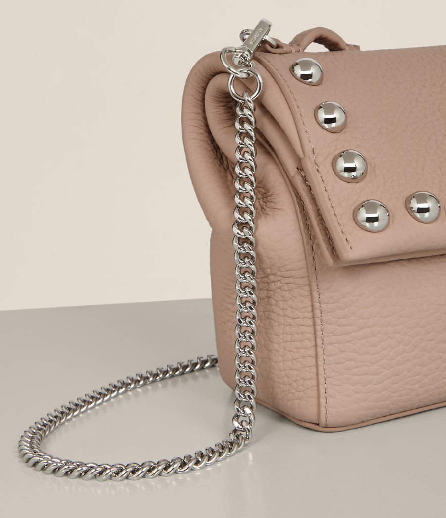 Womens Cami Leather Mini Crossbody (blush_pink) - Image 4