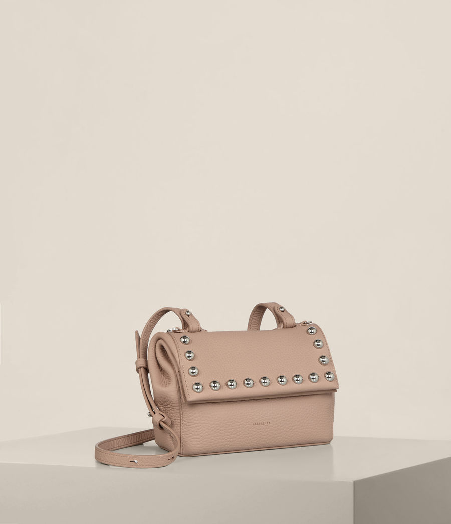 Womens Cami Leather Mini Crossbody (blush_pink) - Image 5