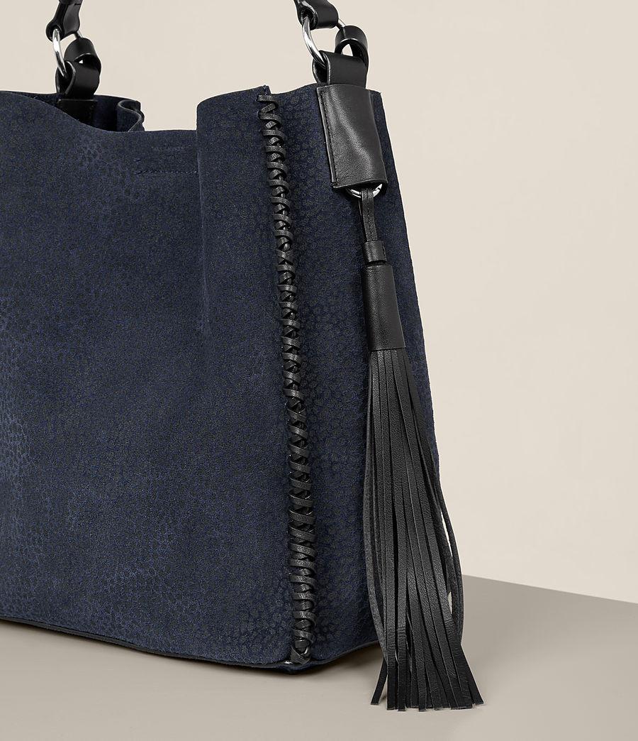 Women's Pearl Mini Hobo Bag (marine_blue_black) - Image 3