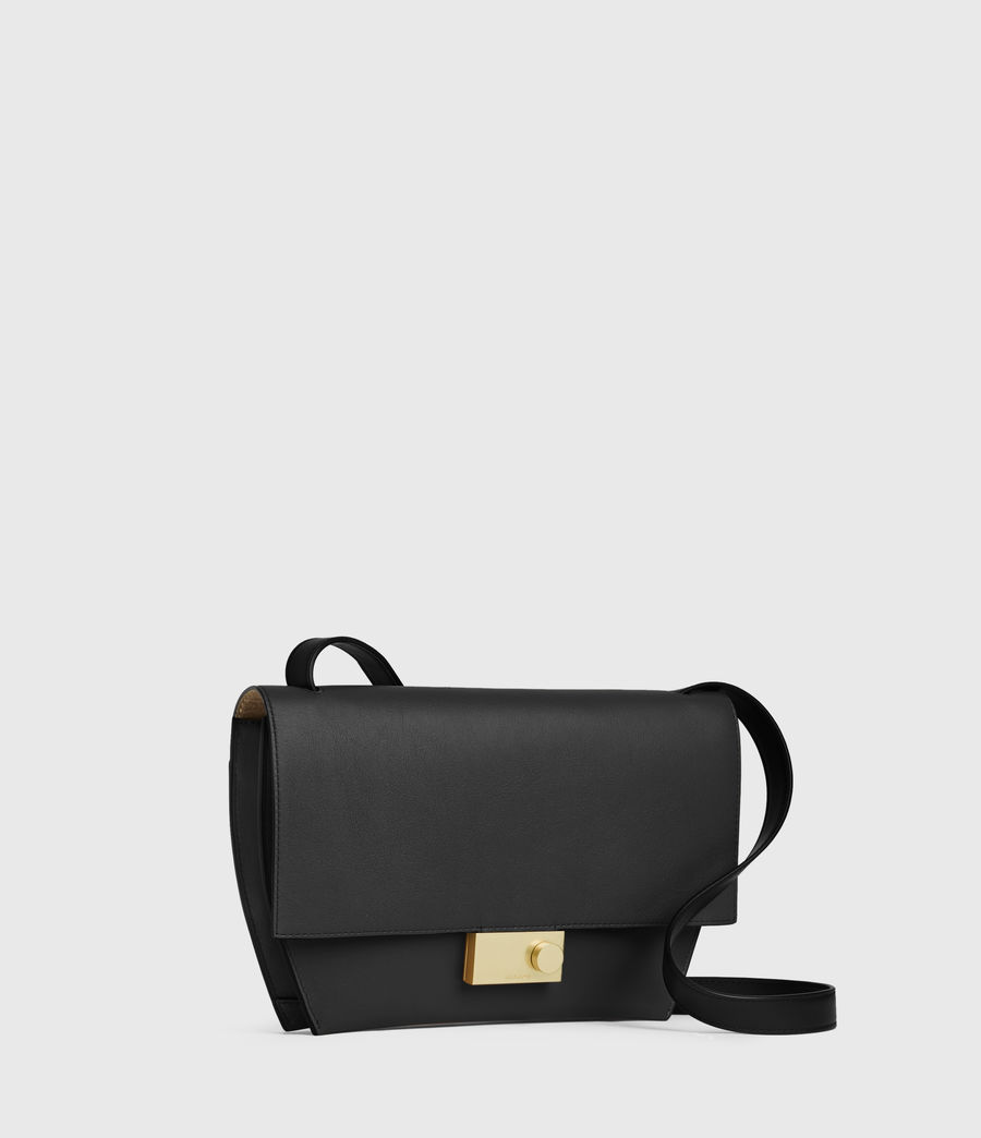 Mujer Harley Leather Crossbody Bag (black) - Image 2
