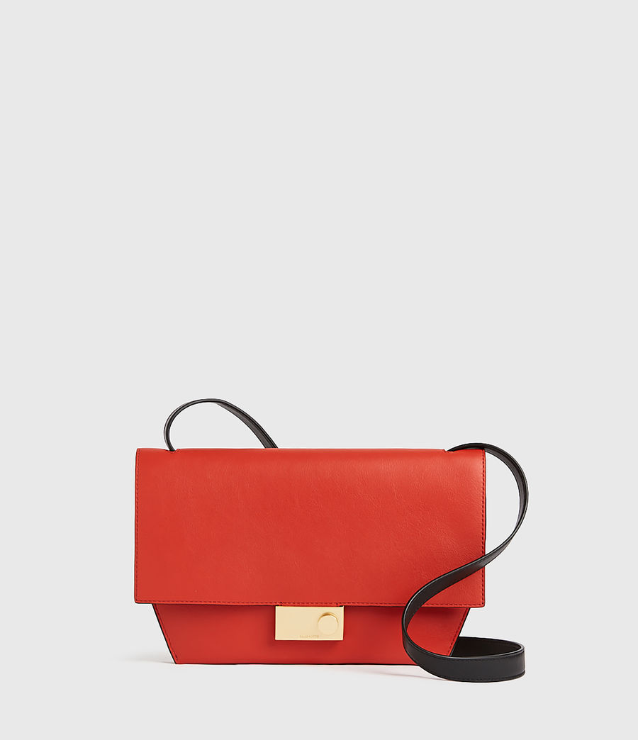 Damen Harley Leather Crossbody Bag (riot_red) - Image 1