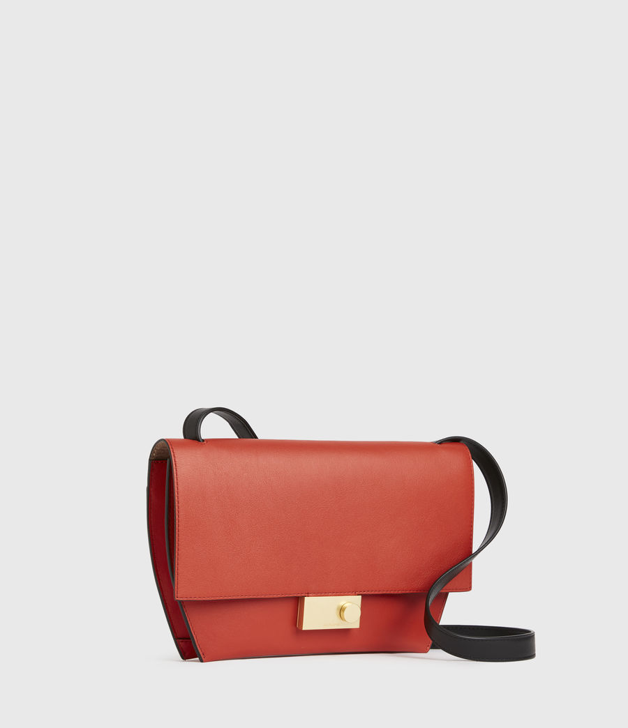 Damen Harley Leather Crossbody Bag (riot_red) - Image 2