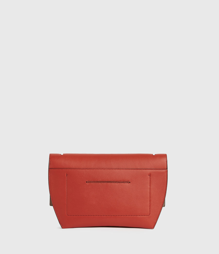 Damen Harley Leather Crossbody Bag (riot_red) - Image 5