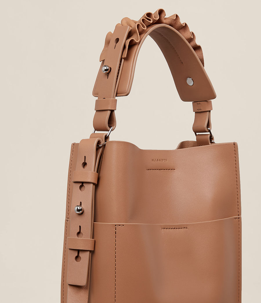 Women's Maya Mini North South Tote (caramel) - Image 3