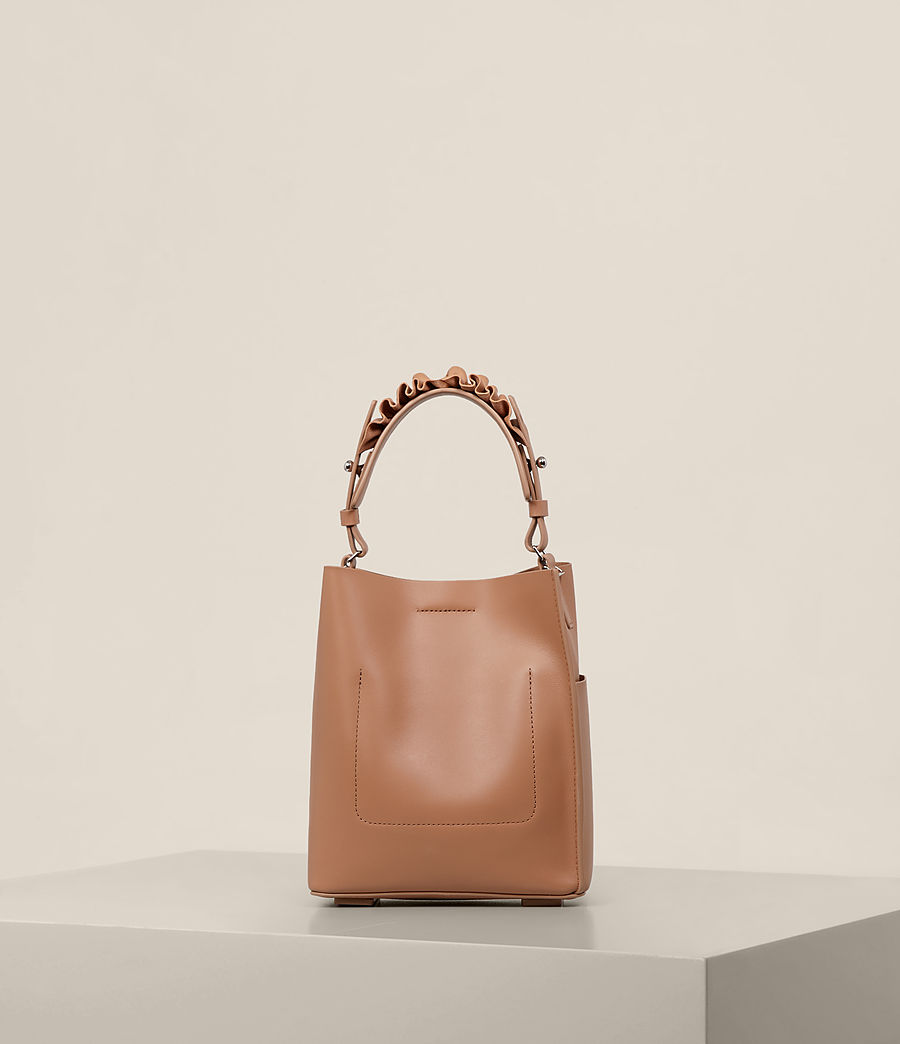 Women's Maya Mini North South Tote (caramel) - Image 7