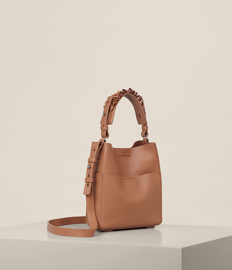 Women's Maya Mini North South Tote (caramel) - Image 8