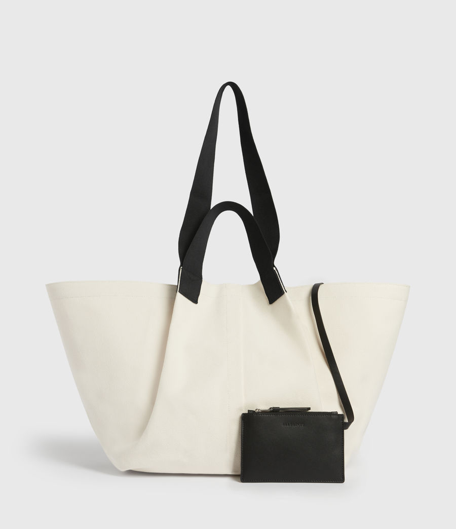 Women's Clarendon East West Tote Bag (warm_white) - Image 6