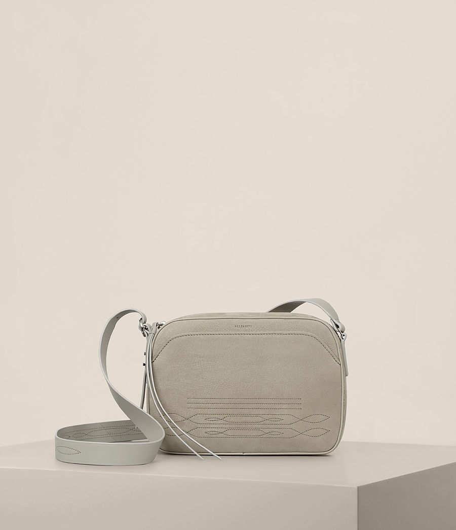 Women's Cooper Leather Camera Bag (light_cement_grey) - Image 1