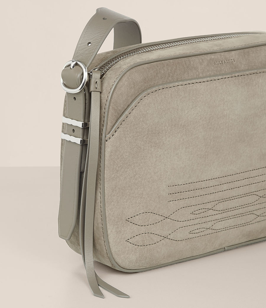 Women's Cooper Leather Camera Bag (light_cement_grey) - Image 3