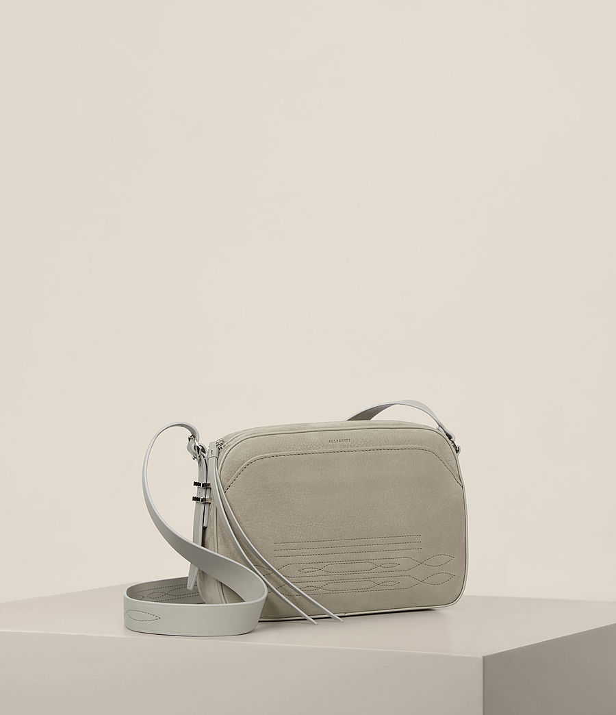 Women's Cooper Leather Camera Bag (light_cement_grey) - Image 5