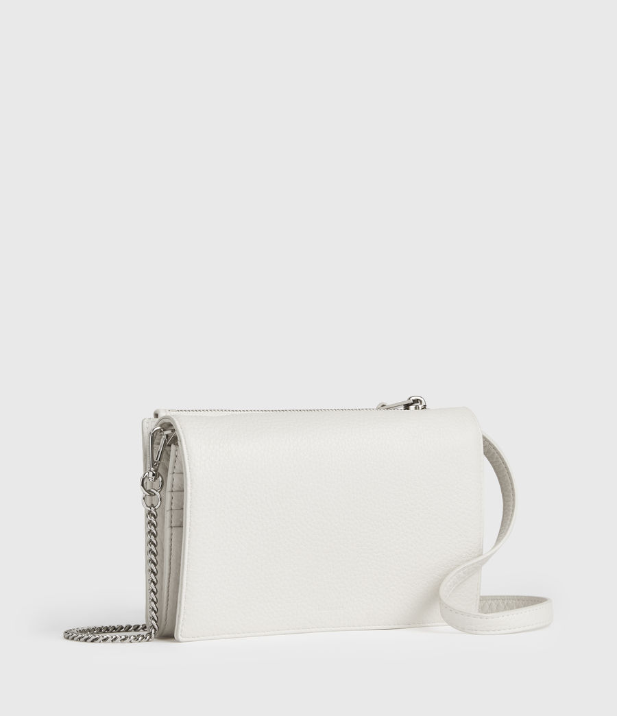 Womens Fetch Chain Leather Crossbody Bag (chalk_white) - Image 2