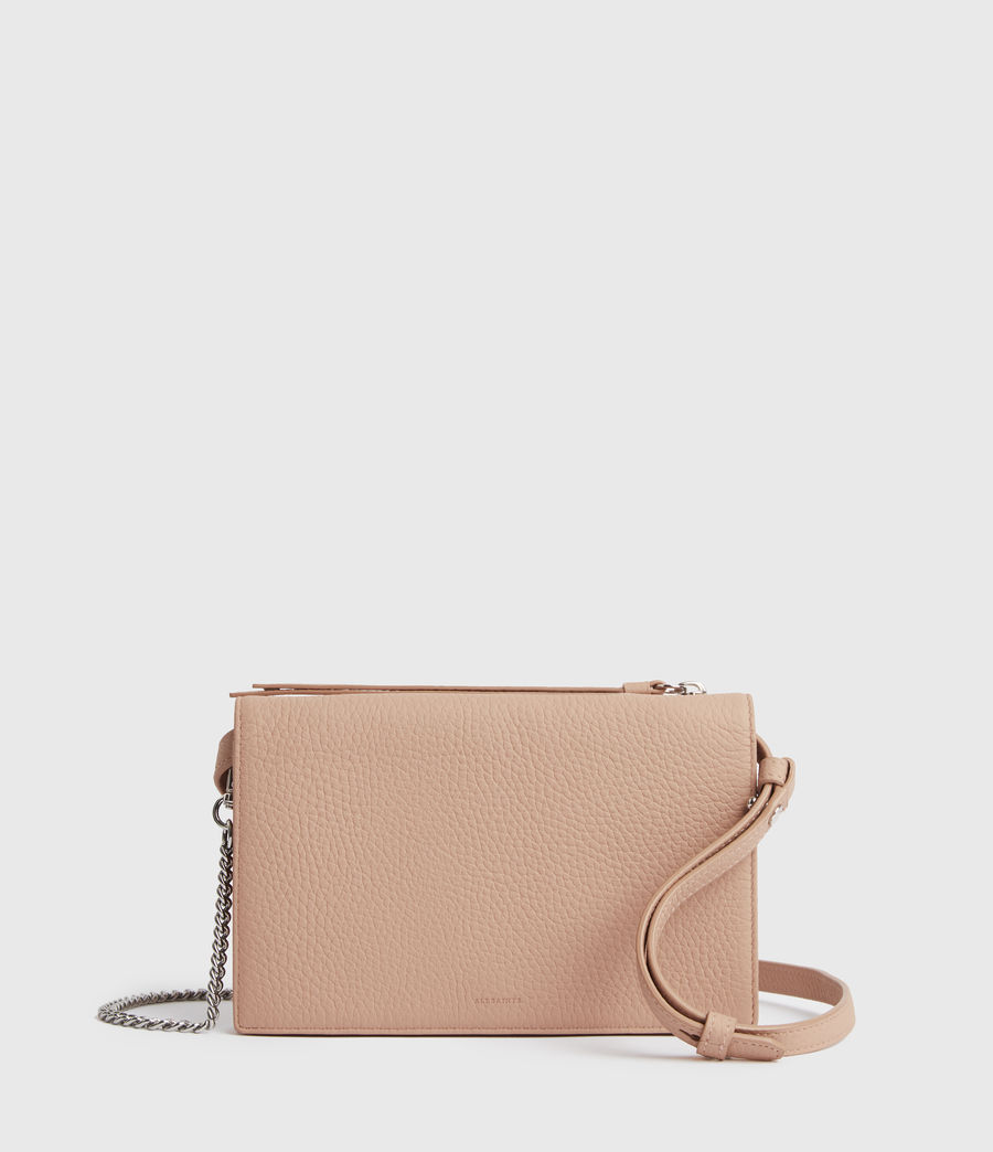 Damen Fetch Chain Leather Crossbody Bag (nude_pink) - Image 1