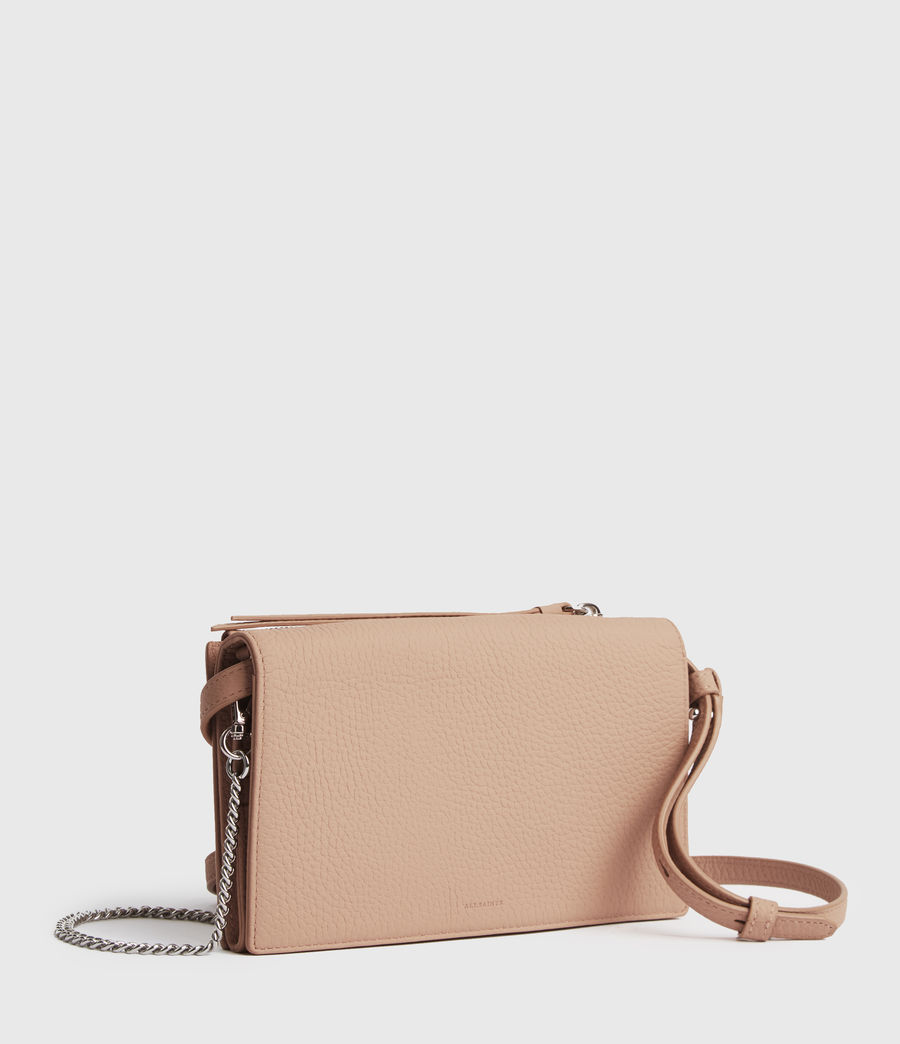 Damen Fetch Chain Leather Crossbody Bag (nude_pink) - Image 3