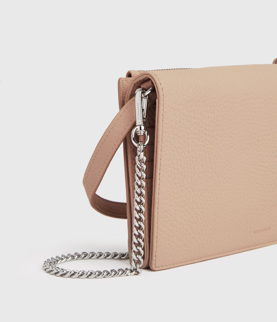 Damen Fetch Chain Leather Crossbody Bag (nude_pink) - Image 5
