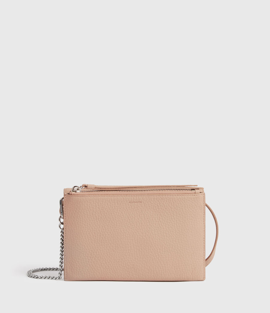 Damen Fetch Chain Leather Crossbody Bag (nude_pink) - Image 7