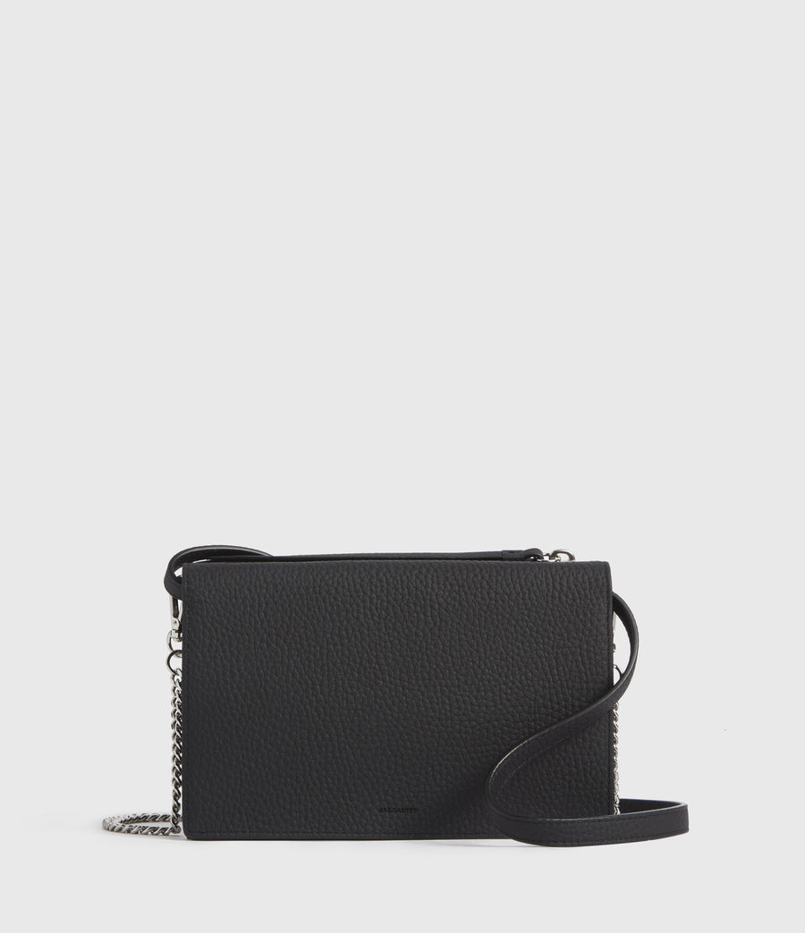 Mujer Fetch Leather Chain Crossbody Bag (black) - Image 1