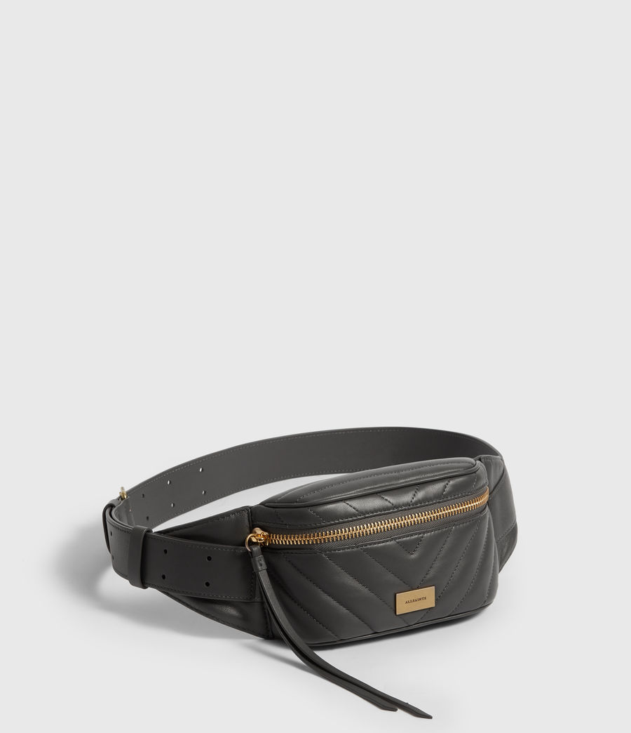 Women's Justine Leather Bumbag (graphite_grey) - Image 3