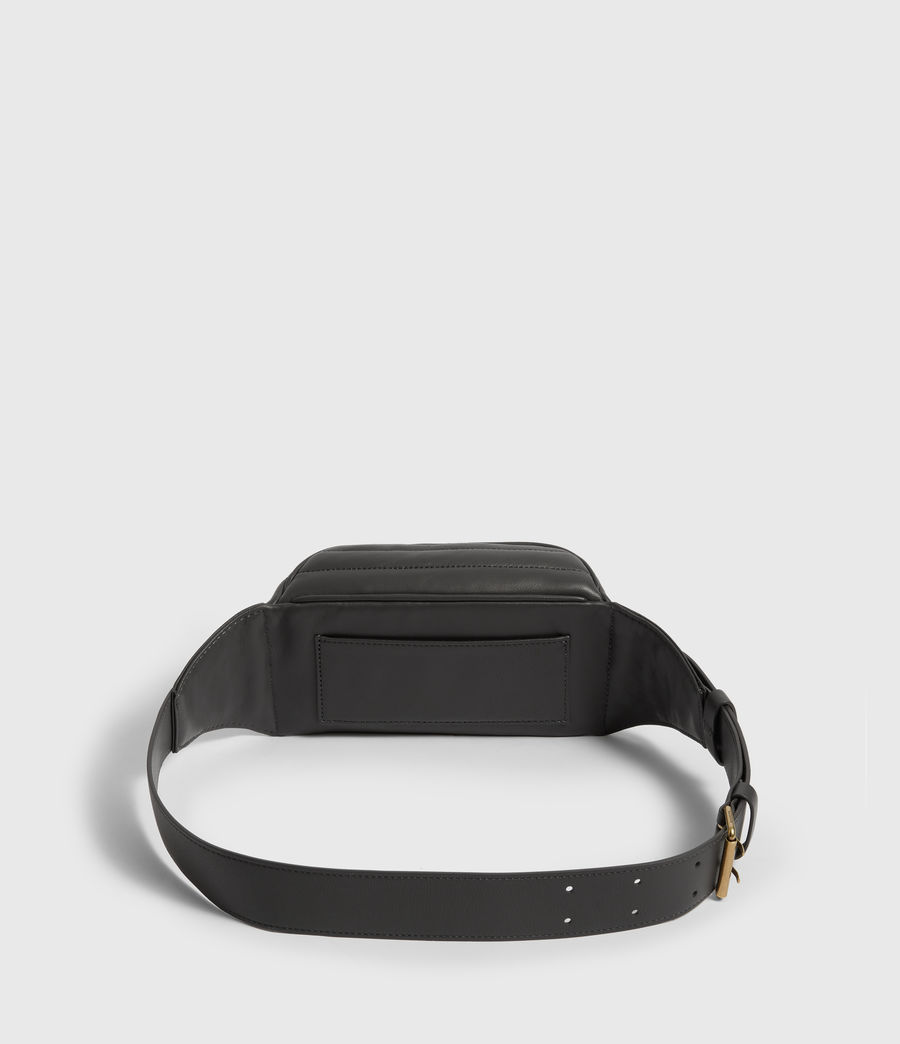Women's Justine Leather Bumbag (graphite_grey) - Image 7