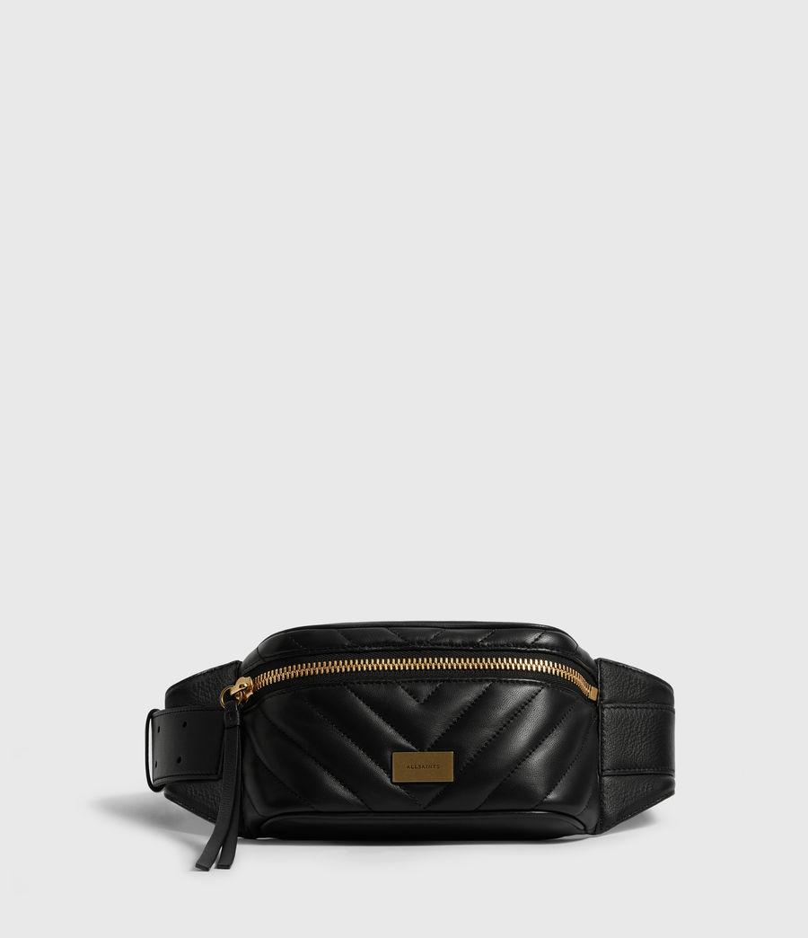 Womens Justine Leather Bumbag (black) - Image 1