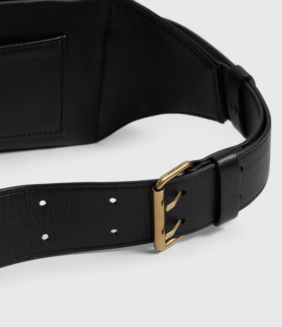 Womens Justine Leather Bumbag (black) - Image 4