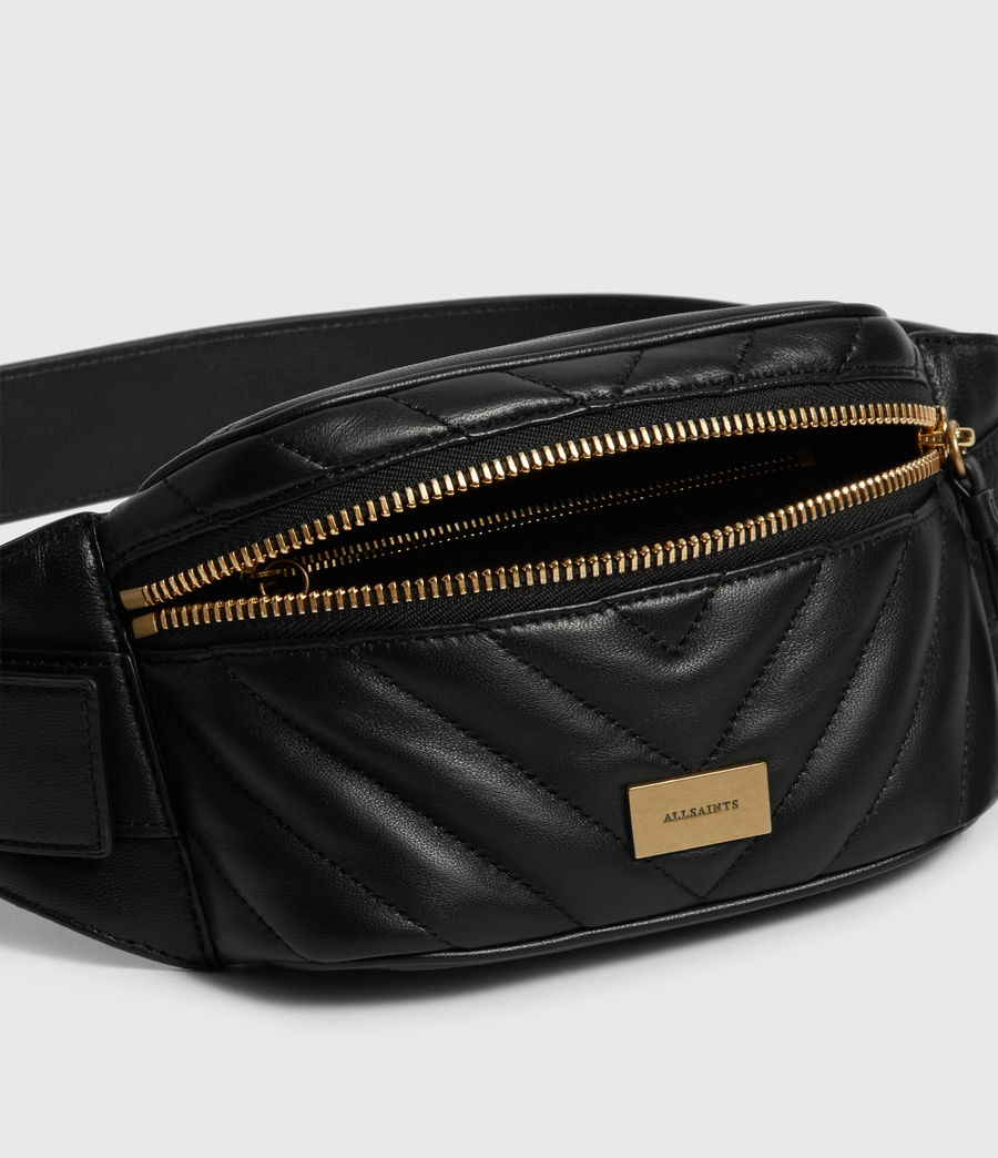 Womens Justine Leather Bumbag (black) - Image 5