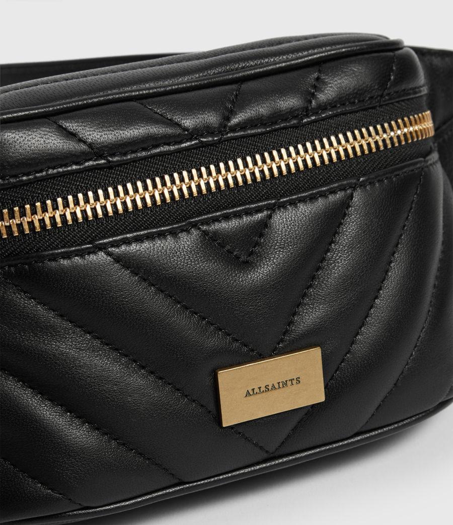 Womens Justine Leather Bumbag (black) - Image 6
