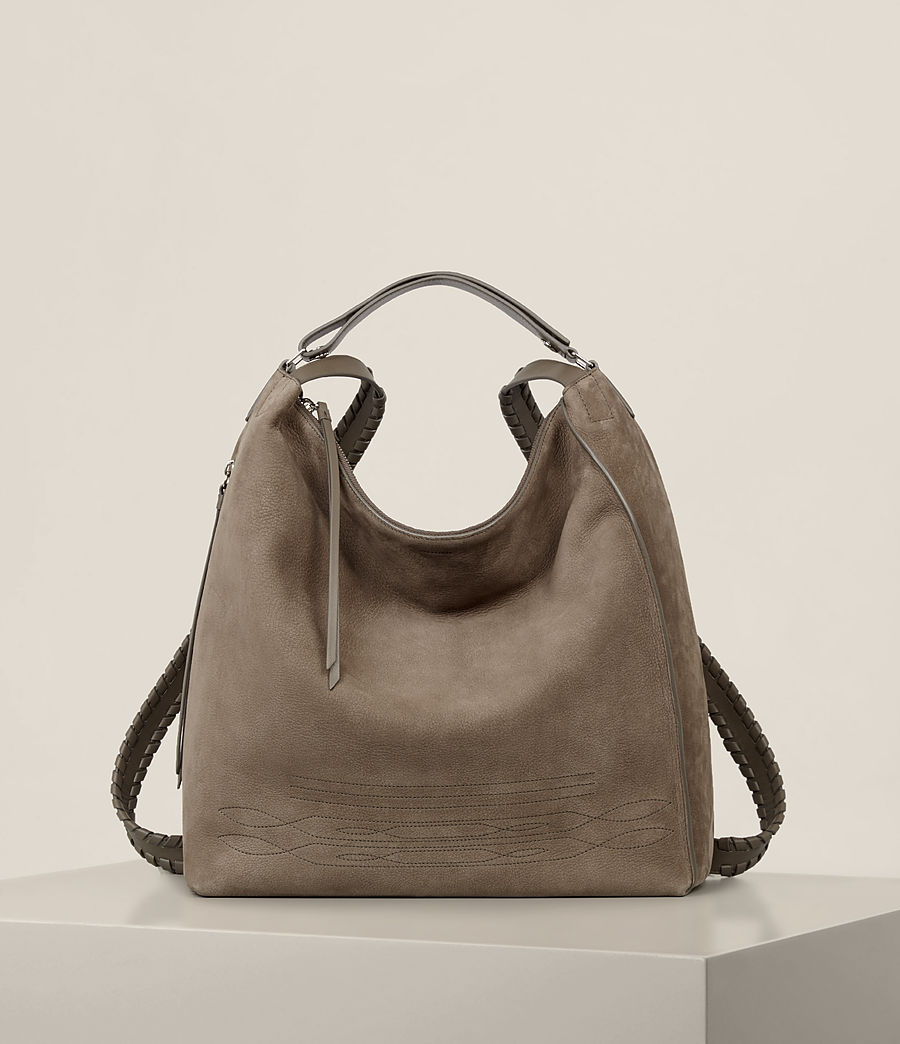 Women's Cooper Leather Backpack (ash_grey) - Image 1